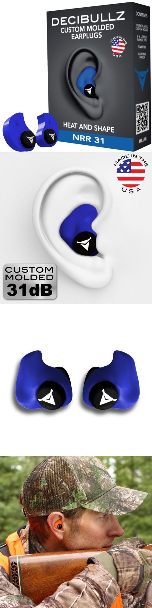 Hearing Protection 73942: Custom Molded Earplugs Hearing Shooting Noise Protection Munite Fit Ear Plug Set -> BUY IT NOW ONLY: $35.99 on eBay!