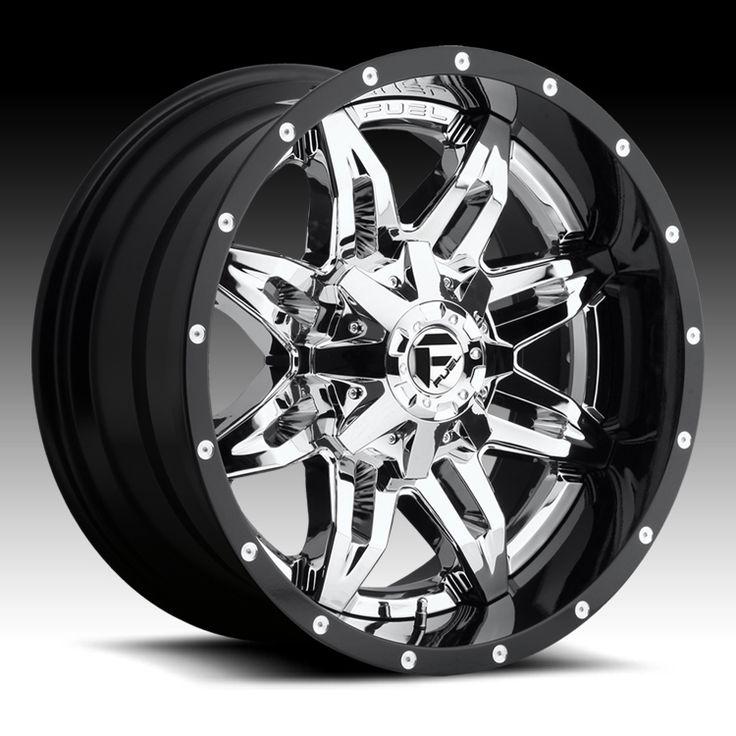 Fuel D266 Lethal 2-PC Chrome w/ Black Barrel Custom Truck Wheels Rims