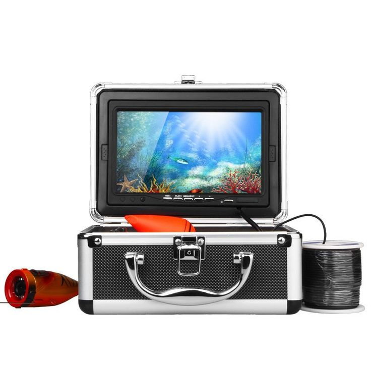 "HD 1000TVL Professional Underwater Fishing Camera Fish Finder  7"" Video Camera Monitor AntiSunshine Infrared IR LED lights"