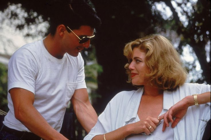 Tom Cruise and Kelly McGillis in Top Gun, 1986