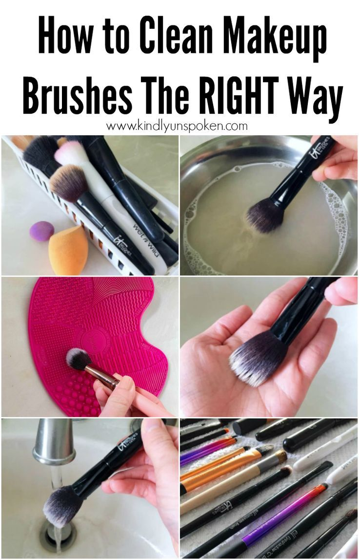 How To Clean Makeup Brushes The Easy Way In 2020 How To Clean Makeup Brushes Clean Makeup Makeup Brush Uses