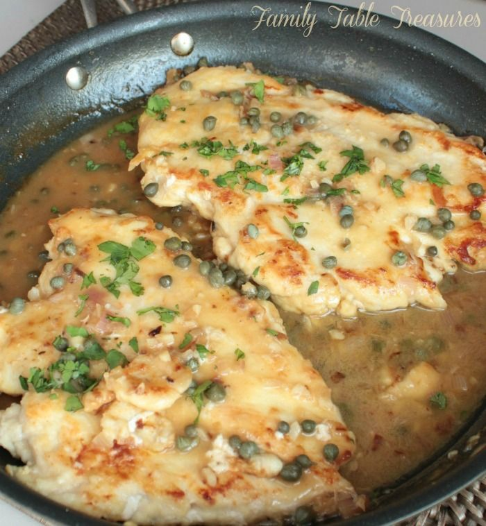 Impress your family with this Easy Chicken Piccata! Not only is it easy to make, it's healthy and delicious! A perfect weeknight meal!