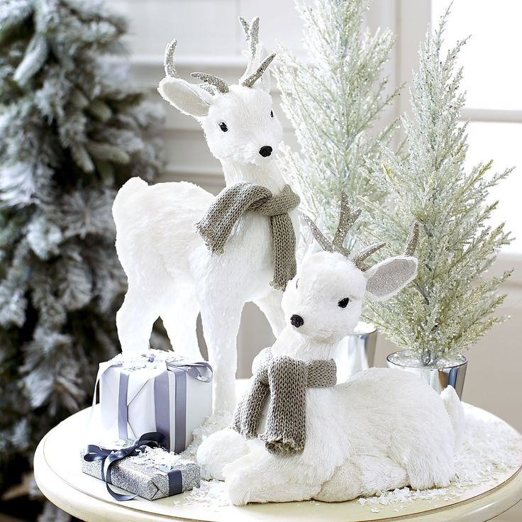 white deer decor techieblogie info - White Deer Christmas Decoration