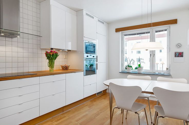 Enkelt vitt kök, Ikea
