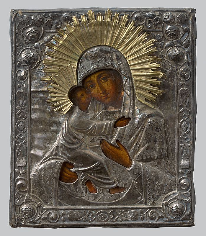 Madonna with child, Russian Iconography,  1790/1810. Slovak National Gallery, CC BY