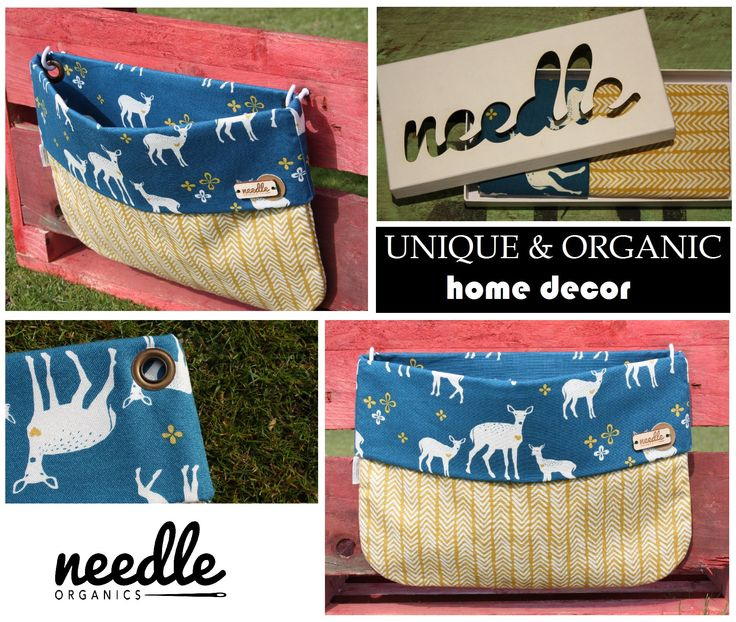 """WALLBAG """"Deer's in Desert"""" - decorate your home and use this bag to store the little things everyone has. Handmade with 100% certified organic cotton."""
