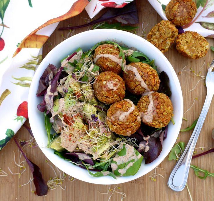 Healthy Baked Falafels With A Spicy Peanut Sauce - Rosanna Davison Nutrition