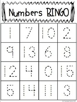 my students are going to play this trace play numbers bingo on halloween we - Preschool Halloween Bingo