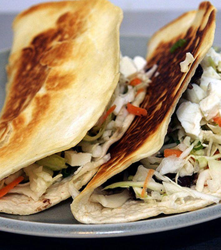 Crisp Black Bean Tacos With Feta And Slaw (meatless mondays ...
