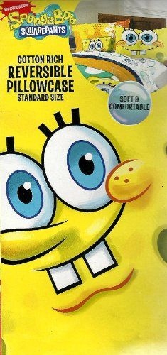 SpongeBob Squarepants Classic Fresh Reversible Pillowcase @ niftywarehouse.com #NiftyWarehouse #Spongebob #SpongebobSquarepants #Cartoon #TV #Show