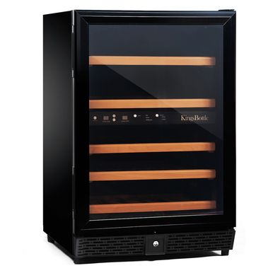 Kingsbottle 50 Bottle Dual Zone Wine Cooler (Black)  http://qualitywinecoolers.com/products/kingsbottle-50-bottle-compressor-dual-zone-wine-cooler-1