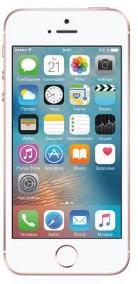"""Смартфон Apple iPhone SE розовый 4"""" 64 Гб NFC LTE Wi-Fi GPS MLXQ2RU/A Rose Gold  — 36500 руб. —  Бренд: Apple, Операционная система: Apple iOS, Диагональ экрана: 4"""", Разрешение экрана: 1136x640, Встроенная память: 64 Гб, Возможности: 3G, Цвет: розовый"""