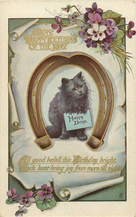 17 best images about happy birthday on pinterest for Vintage geburtskarten