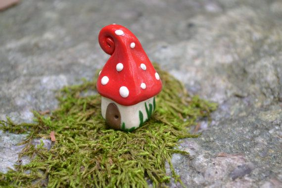 Petite gnome home by littleglasshouses on Etsy, $7.00 perfect for our fairy garden