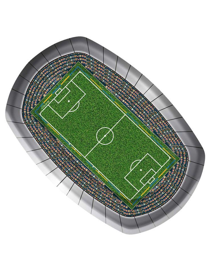 8 piatti di carta Stadio di calcio su VegaooParty, negozio di articoli per feste. Scopri il maggior catalogo di addobbi e decorazioni per feste del web,  sempre al miglior prezzo!