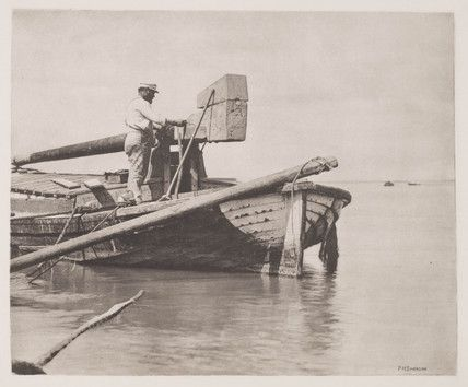 Peter Henry Emerson,  Mending the Wherry', 1888.