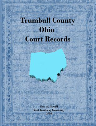 Ohio Books & Photos: Trumbull County, Ohio Court Records