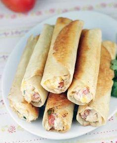 Taquitos de pollo y queso crema | Recetas faciles, Videos de Cocina | SaborContinental.com