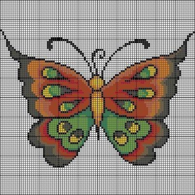 Butterfly -- perler beads:
