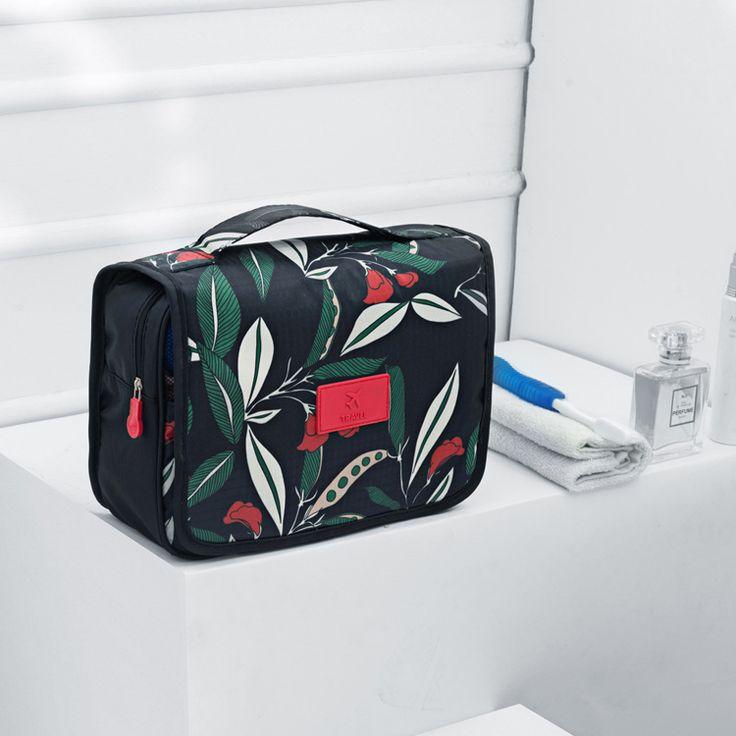 Paris Romantic Style Makeup Bag Travel Vanity Cosmetic Bag European Oil Painting Toiletry Bags Organizer Wholesale Makeup Bags