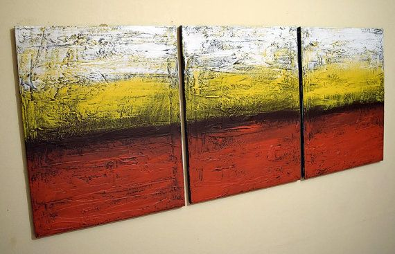 LARGE WALL ART triptych 3 panel wall contemporary art