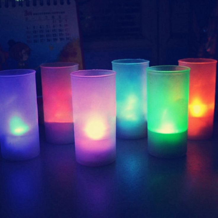 Hot Sale Flameless LED 7 Colors Changing Romantic Flicking Battery Candles Tea Night Light Tealights And Cup For Party/Bedroom #Affiliate