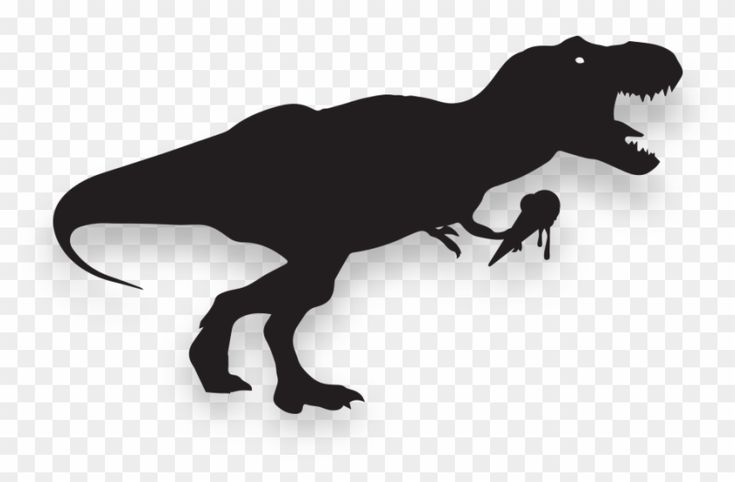 Find Hd Trex Png Black T Rex Silhouette Transparent Png To Search And Download More Free Transparent Png Images Silhouette Free Png Rex
