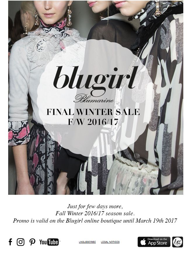Blugirl Final Winter Sales on the Fall Winter 2016/2017 Collections
