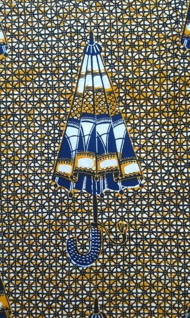 Textile Africain : wax, parapluie