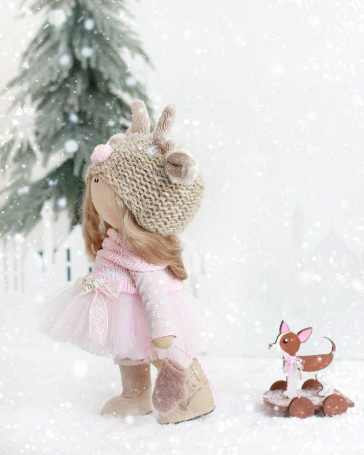 Скоро скоро новый год✌ Год собачки к нам идет Нежная оленюша с символом года, не продается❤✌