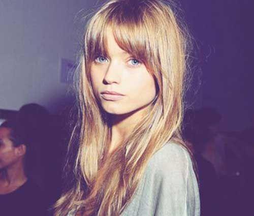Stylish hairstyles with long bangs – #Bangs #haircuts #Hairstyles #Long #Stylish