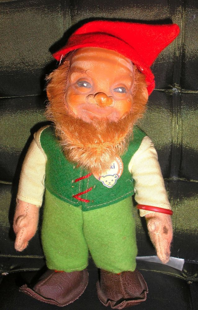 Vintage Steiff 7 Quot Lucki Dwarf Gnome Elf German Doll 1960 S