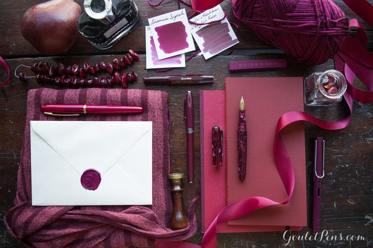Goulet Pens Blog: And the color of the year is... Marsala! This looks more like radiant orchid to me. I imagine marsala to have a lot more brown, a lot more like noodler's black swan in english roses.