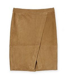 trenery suede wrap skirt