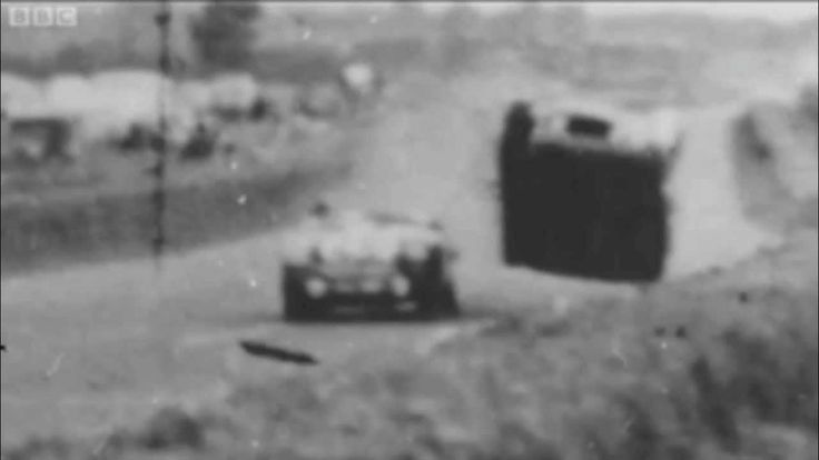 The worst accident in motor racing history happened at the 1955 24 hours of Le Mans. The 1955 Le Mans disaster lead to the death of 82 spectators and the driver Pierre Levegh. More than 100 more people were injured. The photographer of this footage was injured but did survive the incident.