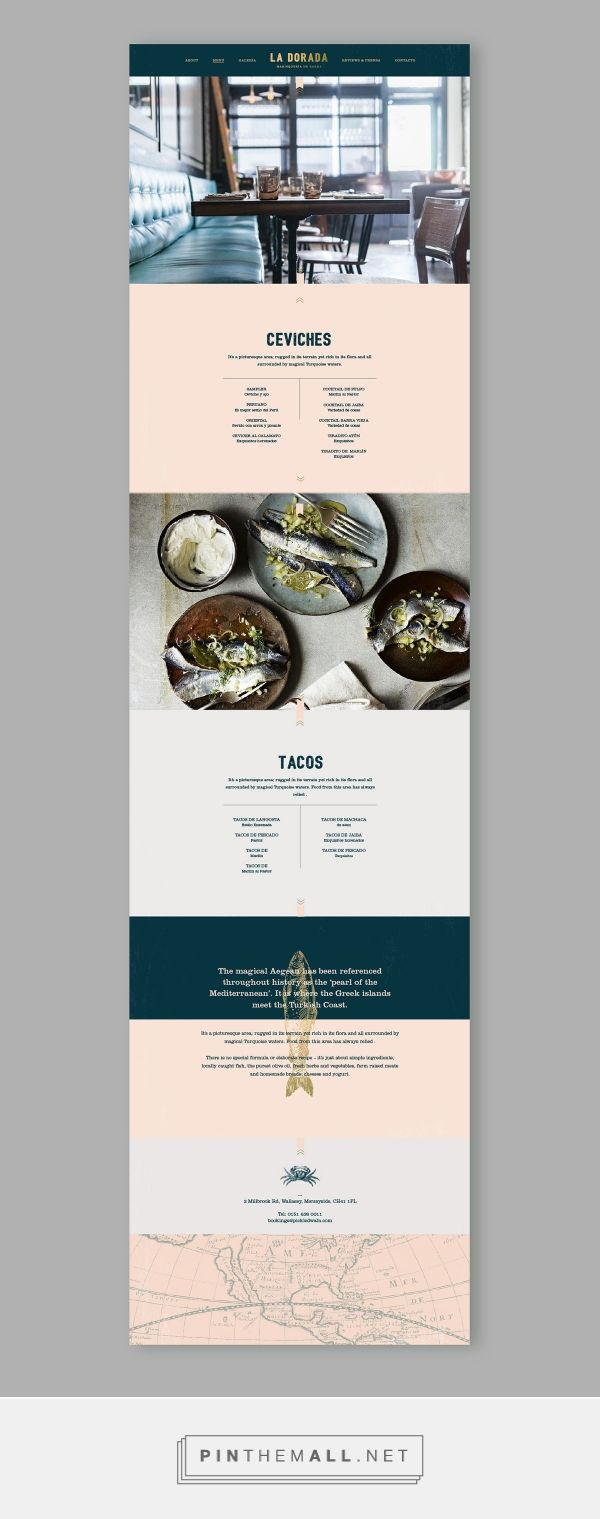 La Dorada Restaurant Web Design by Bunker3022 | Fivestar Branding Agency – Design and Branding Agency & Inspiration Gallery