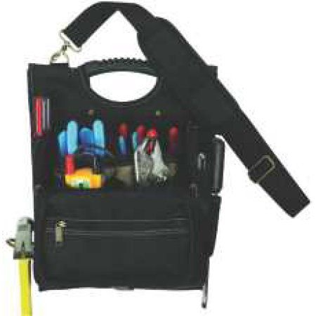 21-Pocket Zippered Professional Electrician Tool Pouch