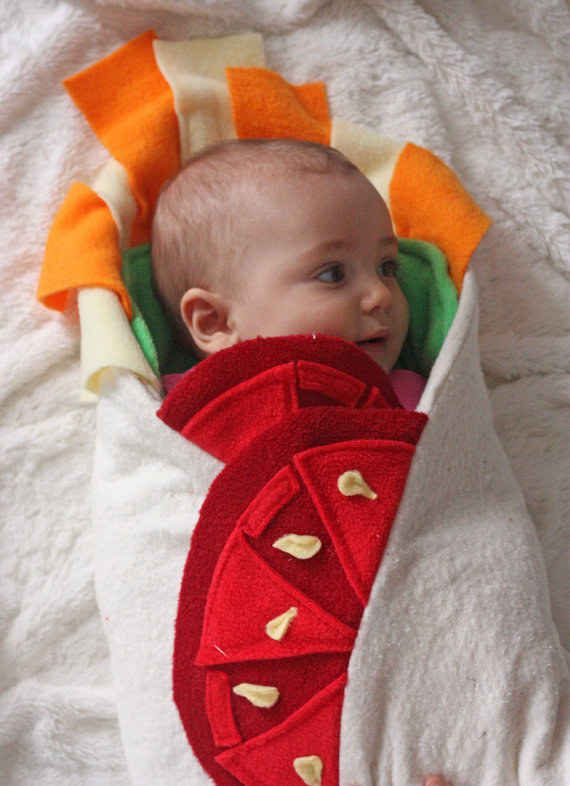 Baby Burrito Blanket is a must have! Burritos = Good. Babies = Good. Burritos + Babies? OMG. So good.