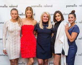 Jamie Erdahl, Nadine Leopold, Pamella Roland, Olivia Culpo, Aly Raisman at Pamella Roland : Spring/Summer 18 Runway Show.