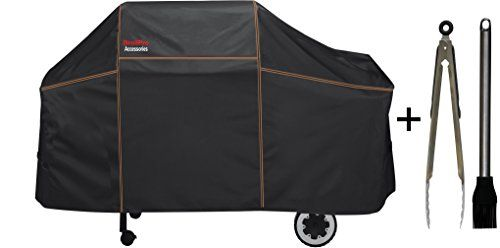 BriolPro Accessories 7552 Grill Cover with Brush and Tongs for Weber Genesis Silver  Gold  2000  5500 Gas Grills >>> Check this awesome product by going to the link at the image.(This is an Amazon affiliate link and I receive a commission for the sales)