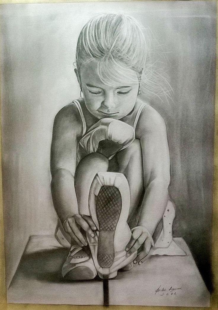 Little girl in ballet