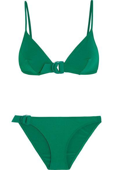 Eres - Petula Jill Triangle Bikini Top - Forest green