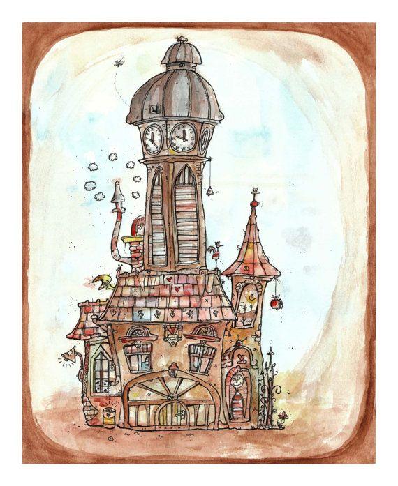 LIMITED EDITION Nursery art print by Peter Meszaros Moha