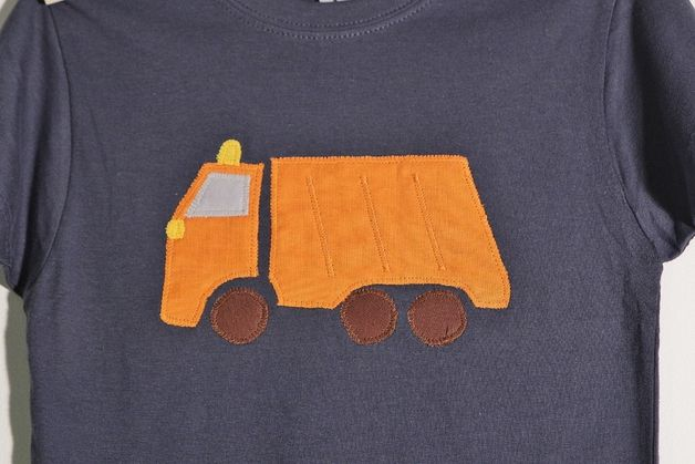 """T-Shirts - Shirt """"Müllauto"""" Gr.86/92 - ein Designerstück von DasFraeuleinSchultz bei DaWanda"""