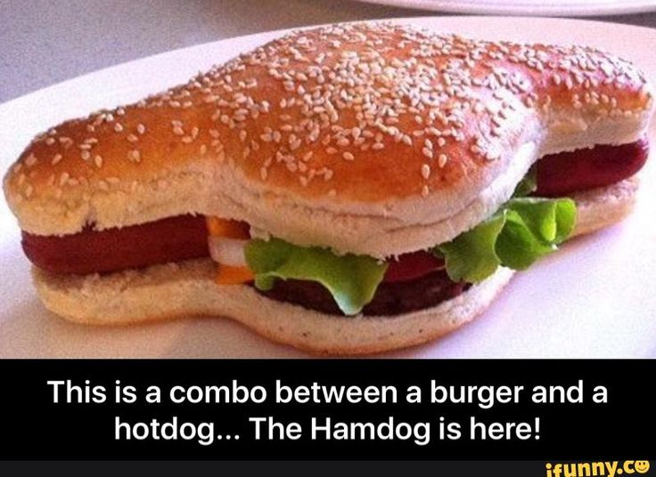 This is a combo between a burger and a hotdog... The Hamdog is here!