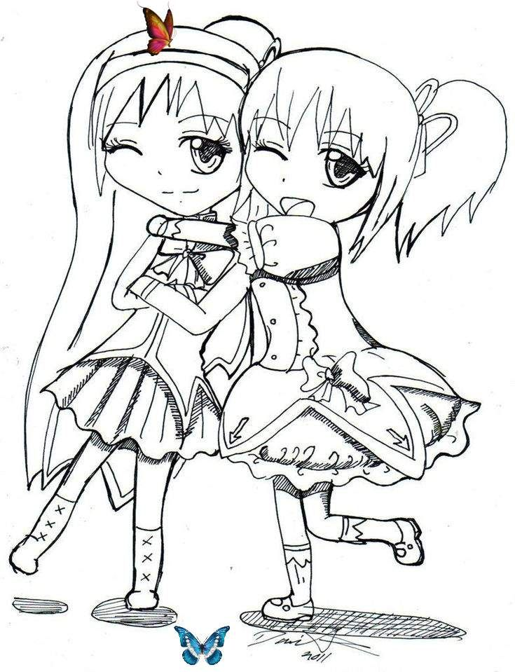 The Best Best Friend Coloring Pages For Girls Best Coloring Pages Inspiration And Ideas Br Anime Best Friends Friend Anime Coloring Pages For Girls