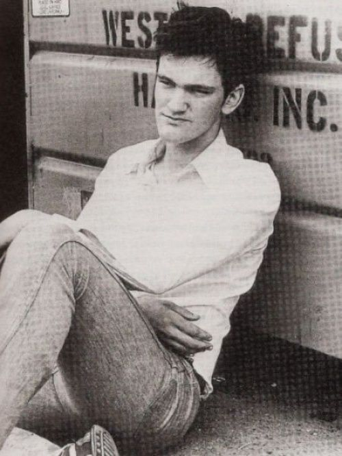 Stars in his younger years. Quentin Tarantino