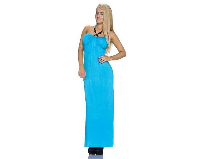 Kleid a linie neckholder