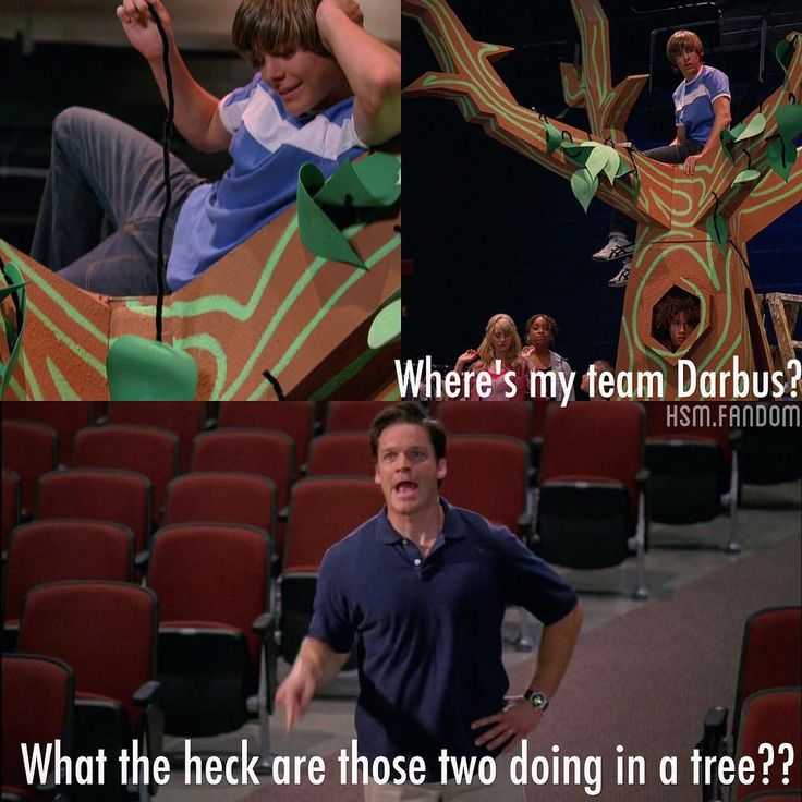 """""What the HECK are those two DOING IN A TREE???"" favorite quote in #hsm1 """