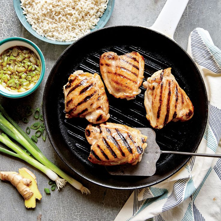 Grilled Chicken Thighs with Ginger Sauce - Superfast Chicken Recipes - Cooking Light